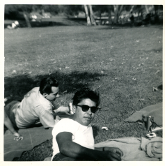 6. 1940s - dad & jerry in the park.