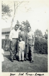 26. 1940s - grandfather reyes, with jess, tony and little rocky (from the matt bustillos collection)