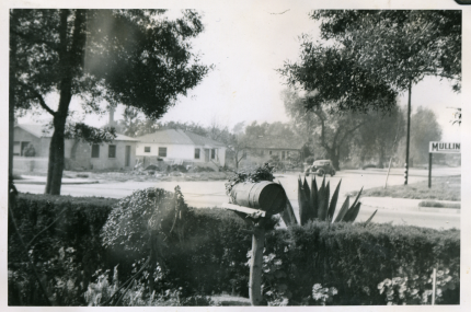 46. 1940s - Looking out from the Reyes front yard.