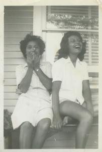 39. 1940s - nellie and josie have a laugh.