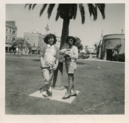 41. 1940s - josie and nellie at the park.