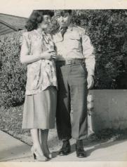 7. 1951 - pregnant josie & sargent ben