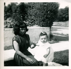 15. 1951 - josie and baby kathie