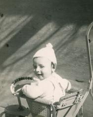 19. 1951 - stroller baby kathie