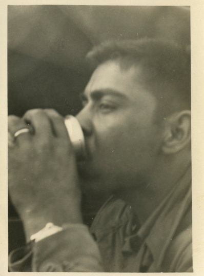 20. 1940s - ben enjoying a beverage