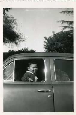 20. 1951 - kathie in the car