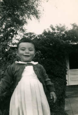 21. 1951 - kathie in the yard