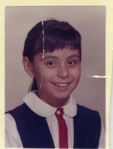 38. 1960s - kathie in elementary school in color.