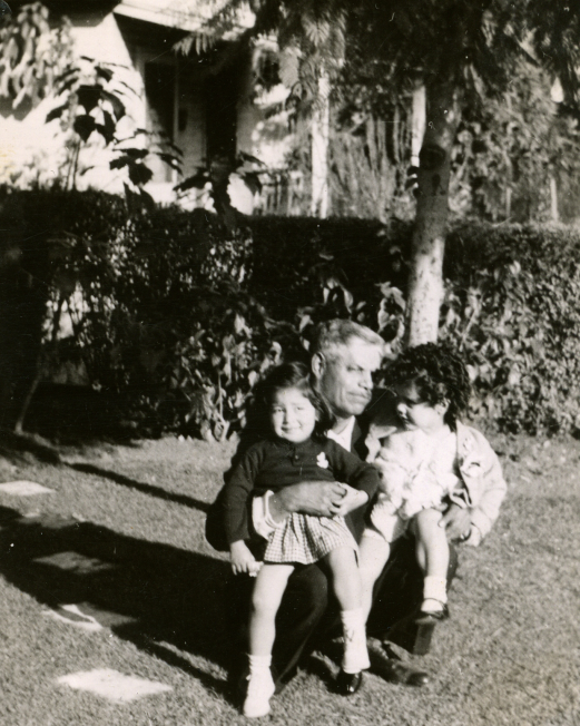 52. 1950s - granddad reyes and grandkids.