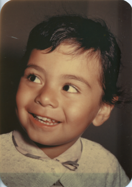 30. 1950s - color portrait. Until a baby photo of Joyce was found, this photo was used as an example of what Joyce looked as an infant.