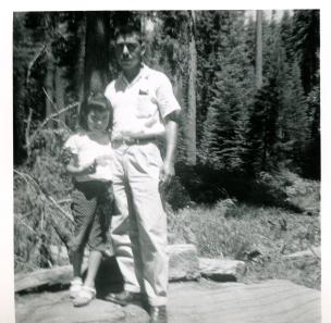 35. 1950 - kathie & dad