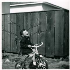 28. 1950s - happy kathie on tricycle