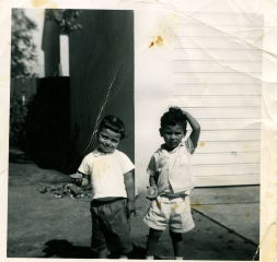 "25. 1950s - kathie and steve gallegos, kat's first ""boyfriend."""