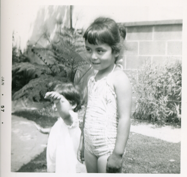 6. 1957-01 toddler michaela and kathie