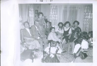54. 1950s - granddad & grandma reyes & family gathering.