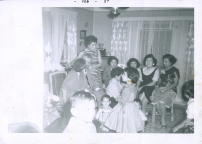 55. 1950s - granddad & grandma reyes & family gathering, cont.