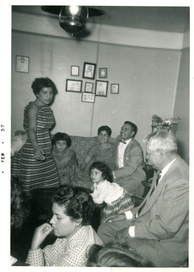 56. 1950s - granddad & grandma reyes & family gathering.