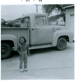 12. 1958-10 michaela by dad's truck