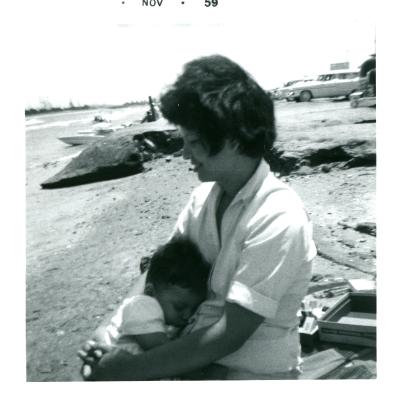 16. 1959-11 mommy & me on the beach.