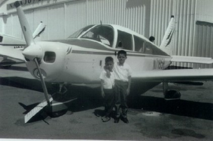 25. 1960s - matt & joe at the local airport.