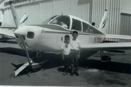 25. 1960s - matt & joe at the local airport.