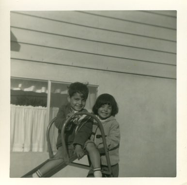 17. 1960s - matt & joyce on the slide.