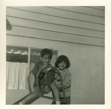 17. 1960s - matt & joyce on the slide.