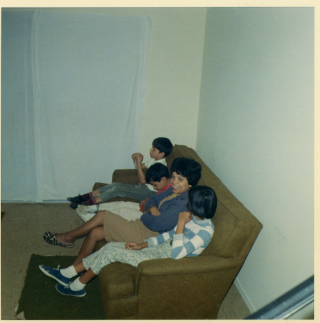 1. 1966 - enjoying our new den.