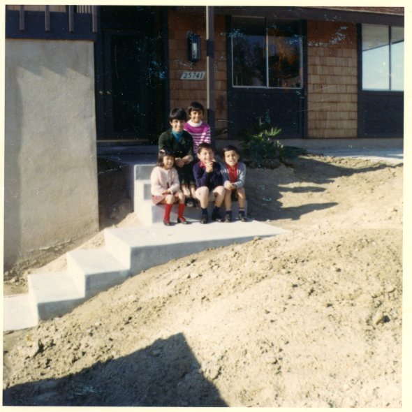 December 1965 - in front of the Mission Viejo home