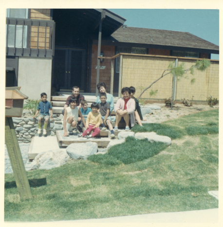 4. 1960s - front of mv house photo (with jerry & family)