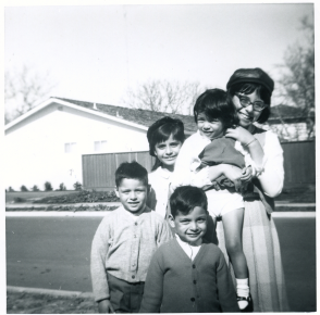 9. 1960s - joe, matt, mich, joyce & kathie (wearing john lennon beatle hat).