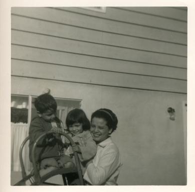 18. 1960s - matt, joyce & mom.