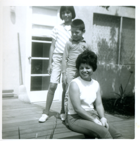 23. 1960s - mich, joe & mom, showing that we can stand in a line too.
