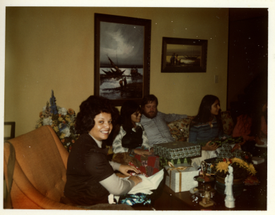 18. late 1970s - xmas with mom, kathie, joel & mich