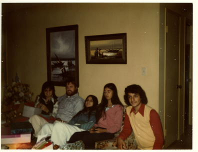 19. late 1970s - xmas with kathie, joel, mich, joyce & matt.