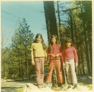 15. 1970s - cousins polly & dina & joyce at arrowhead.