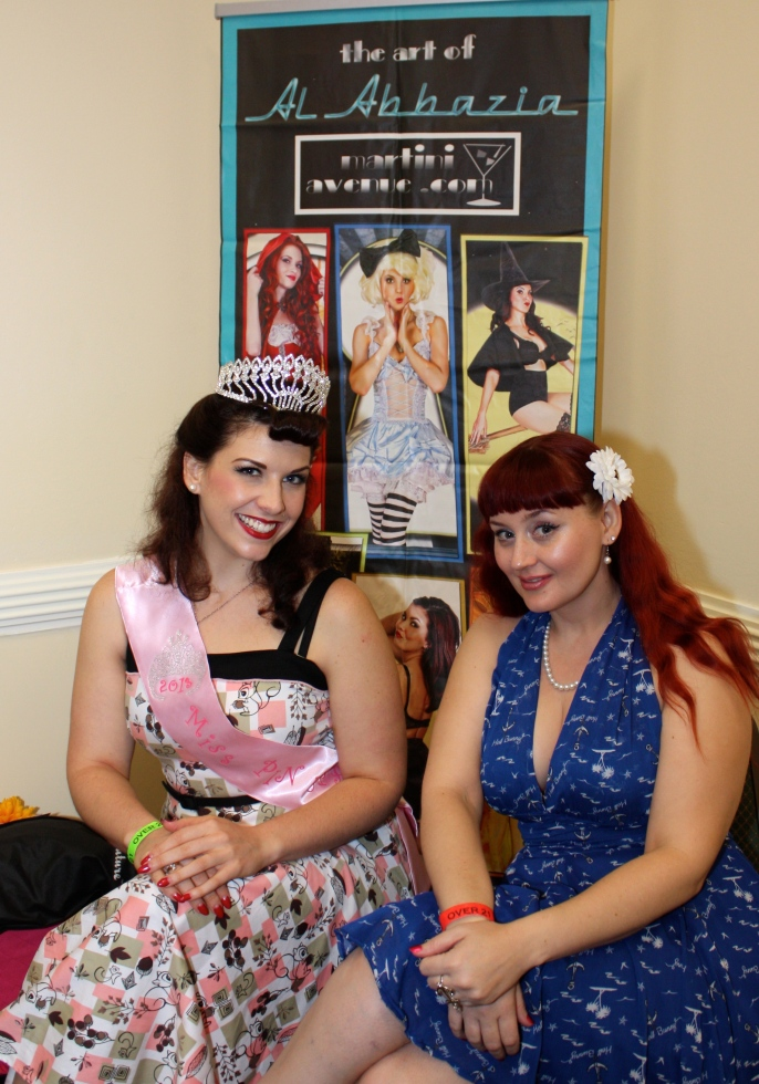 Miss Pinupalooza 2013, Samantha DeBruhl and April Lynn, post-award.