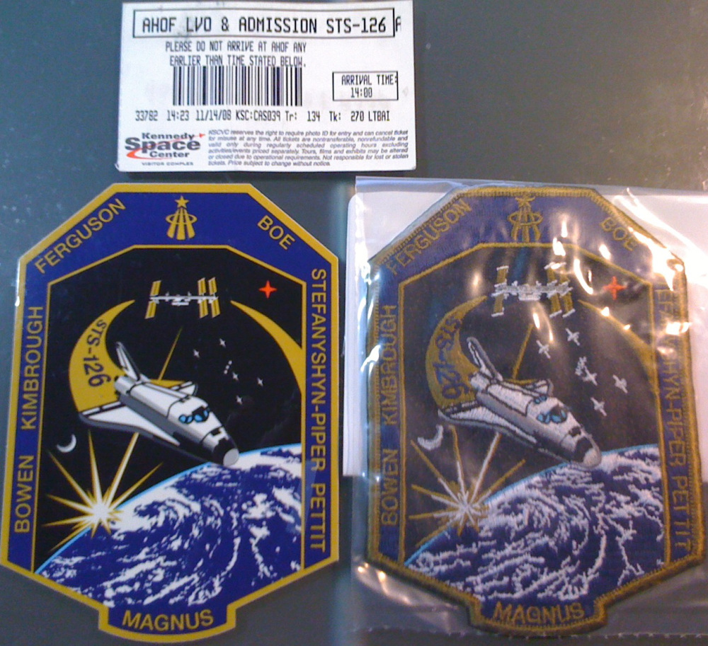 STS-126 mission decal and patch