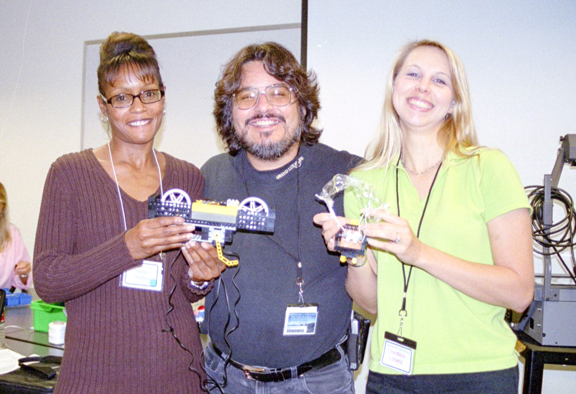 Team Members (l-r): Darlene Thomas - Recorder, Joe Bustillos - Hardware Specialist, and Christine Lorenz - Software Specialist