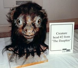 "Star Trek: TNG props - Creature head from ""The Dauphin"""