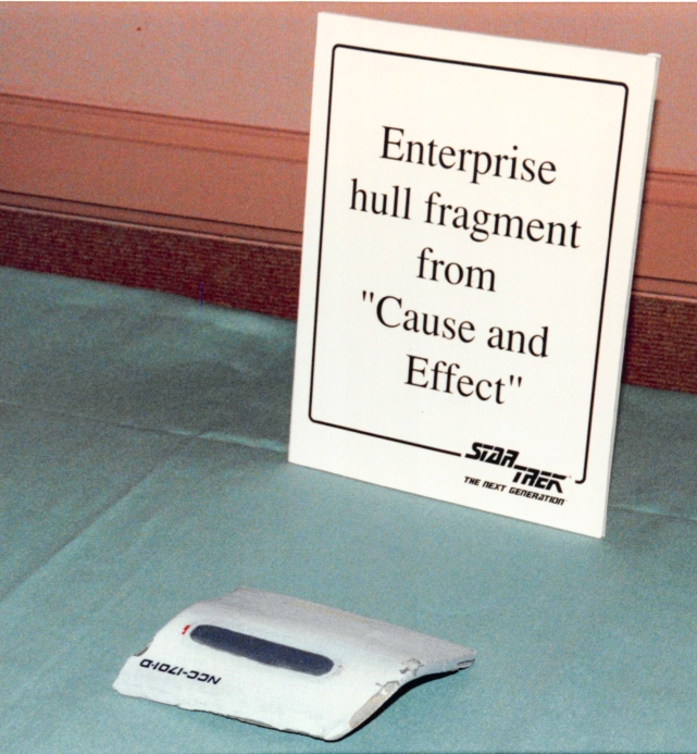 Star Trek: TNG props - Enterprise hull fragment
