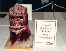 Star Trek: TNG props - Klingon devil head