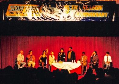 Star Trek: TNG cast panel: Patrick Stewart, Brent Spiner, Marina Sirtis, Gates McFadden, Majel Barrett Roddenbury, Michael Dorn, LeVar Burton. Jonathan Frakes & Wil Wheaton