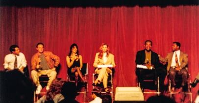 Star Trek: TNG cast panel: Wil Wheaton, Brent Spiner, Marina Sirtis, Gates McFadden, Michael Dorn & LeVar Burton.