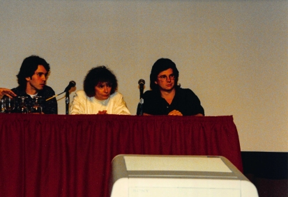 Star Trek: TNG writers/producers Brannon Braga, DC Fontana and Ronald Moore.