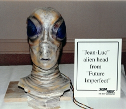 "Star Trek: TNG props - ""Jean Luc"" alien head"