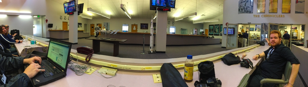 11AM - in the NASA News Center panorama