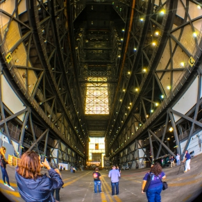 3:10PM - Just inside the VAB with the highbays on the left and right