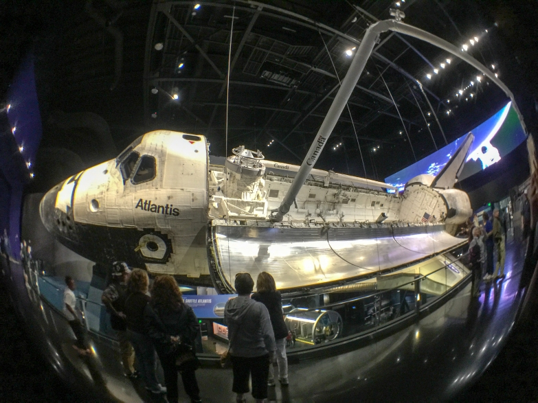 4:50PM - Space Shuttle Atlantis in full glory
