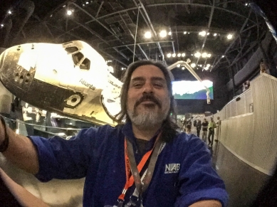 4:50PM - selfie in front of the Space Shuttle Atlantis